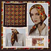Vintage 1970s Liberty Scarf Silk Geometric Pattern