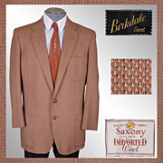 Vintage Tweed Blazer Jacket 1950s Mens 100% Wool Size Medium