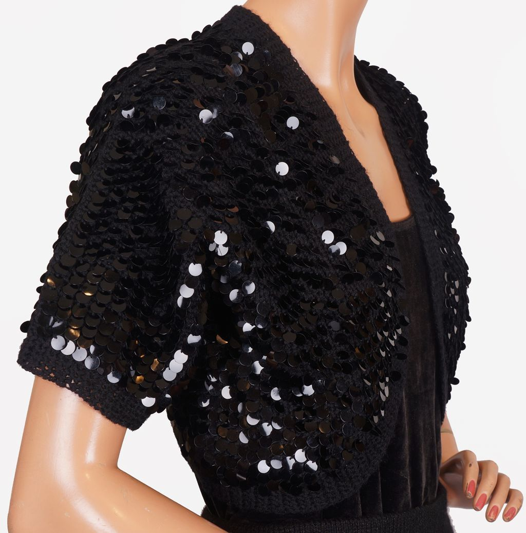 Black Sequin Shrugs. Showing 48 of results that match your query. Search Product Result. Product - Faship Chiffon 3/4 Sleeve Bolero Shrug Cardigan Top. Product Image. Price Product - HDE Women's Bolero Long Sleeve Cardigan Shrug (Black, Small) Product Image. Price $ 99 - $