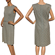 Vintage 1960s Lamé Dress - Gold and Pale Blue