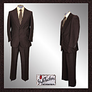 Disco Era Mens Suit Size S / M Vintage 1975