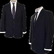 Vintage 1950s Mens Suit Jacket Hand Tailored Size Medium Blazer