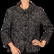 Vintage 1960s Wool Tweed Twill Suit Jacket Ladies Size Medium