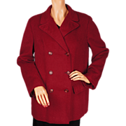 1930s Jaeger Red Wool Jacket