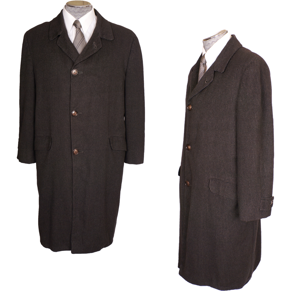 Vintage Mens Coat 100% Cashmere Topcoat 1960s Overcoat Size M from ...