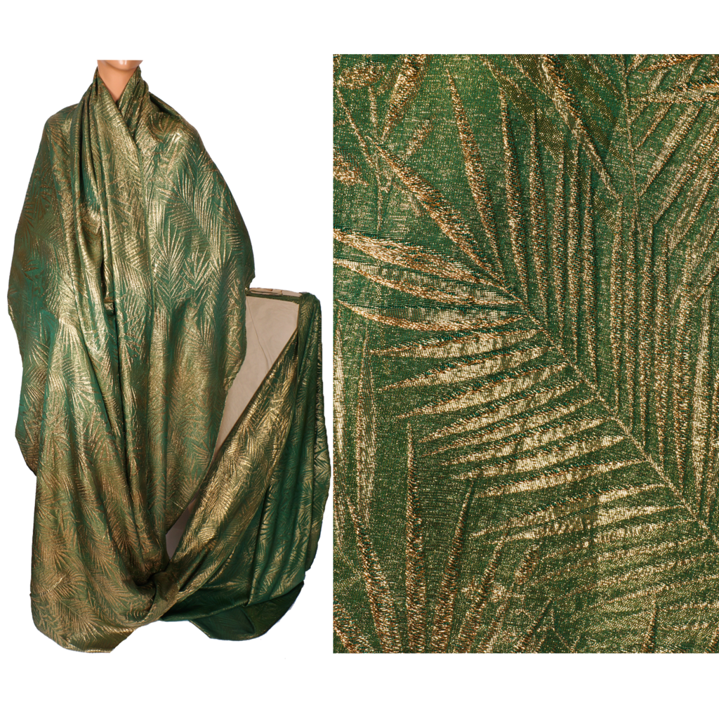 Vintage gold lam green silk sewing fabric 1920s art deco for Cloth material for sewing