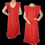 Vintage Marimekko Finland Pinafore Dress Mari Essu by Liisa Suvanto Size M L