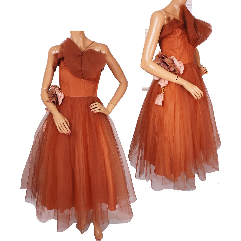 Vintage Brown Prom Dresses 105