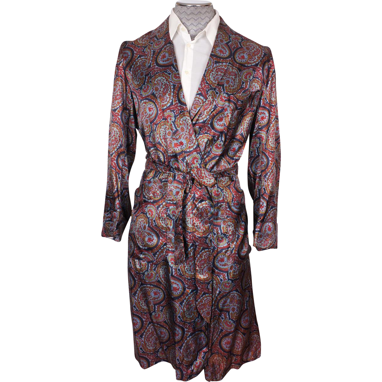 Men S Dressing Gowns: Vintage Mens Dressing Gown By Caulfeild Paisley Pattern