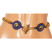 Vintage 70s Gold Toned Chain Belt Ladies Size S