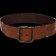Vintage 80s Brown Leather Belt Ladies Size S M