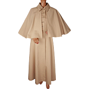 Vintage 1970s Raincoat with Capelet - Bloomingdales - M