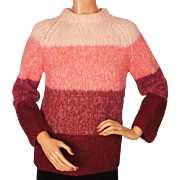 Vintage 1960s Mohair Wool Sweater Made in Italy for Eaton's Ladies Size M
