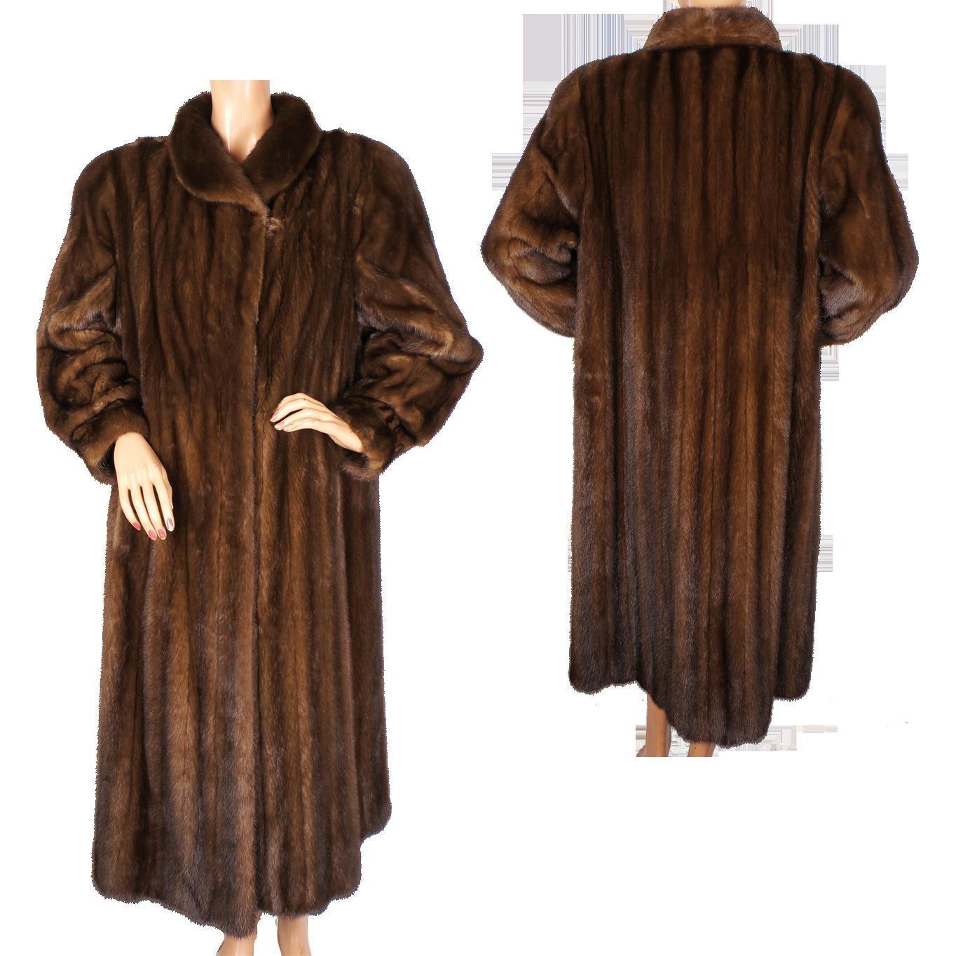Vintage 1980s Christian Dior Mink Coat Scanbrown Female Pelts Size ...