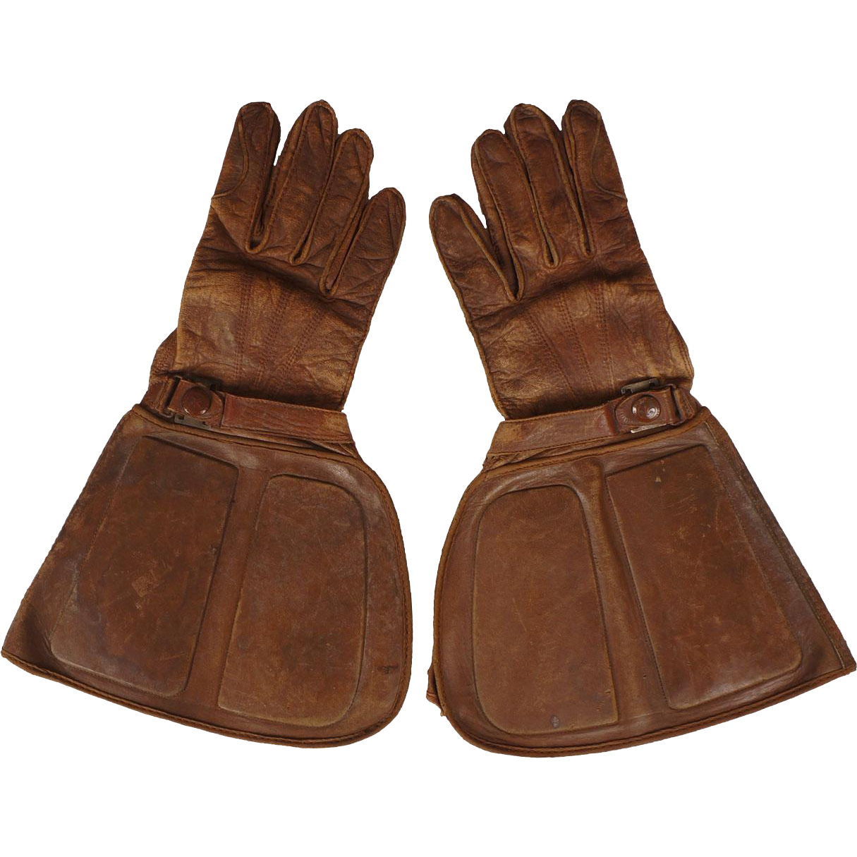 Motorcycle gloves large - Vintage 1920s Or 30s St Lawrence Motorcycle Gloves Gauntlet Style Quebec Size 8 5