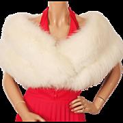 Vintage 1960s White Fox Fur Stole