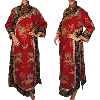 Antique Chinese Imperial Court Summer Robe Womens Changyi Late Qing Dynasty