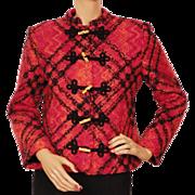 Vintage Lanvin Paris Wool Boucle Tweed Suit Jacket 1970s Ladies Size L