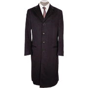 Vintage Mens Black Cashmere Coat - Armani Collezioni - 40