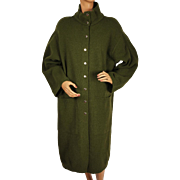 Vintage 1980s Dorothee Bis Sweater Coat - Olive Green