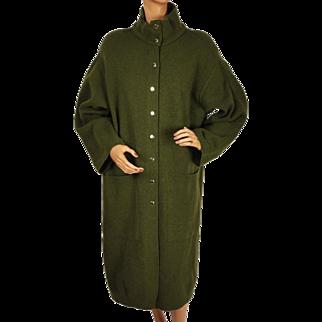 Vintage 1980s Dorothee Bis Sweater Coat - Olive Green