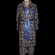 Vintage 50s Wilson Bros Faultless Pajamas & Robe Set Mens Pyjamas & Dressing Gown