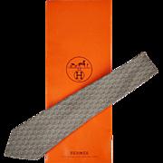 Vintage Hermes Tie Silk Twill 7212 UA Mint Green Mens Necktie Made in France