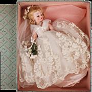Vintage Madame Alexander Cissette Doll 1958 Bride 876 Blonde w Box - Pristine