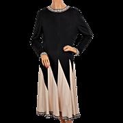 Vintage Averardo Bessi 1970s Silk Jersey Dress Size 10 Medium