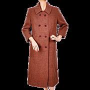Vintage Harris Tweed Houndstooth Coat 1960s Ladies Size Medium