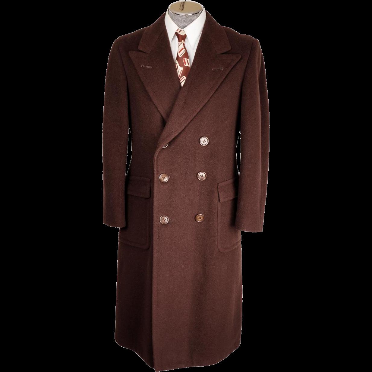 reserved vintage 1930s mens overcoat brown wool coat by