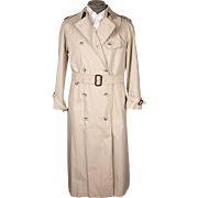 Vintage 1980s Aquascutum Trench Coat - Raincoat Ladies Size 12 R
