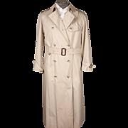 Vintage 1980s Aquascutum Trench Coat - Raincoat Ladies Size 12 R