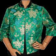 Vintage 60s Nelly de Grab New York Brocade Dress Jacket Size Medium