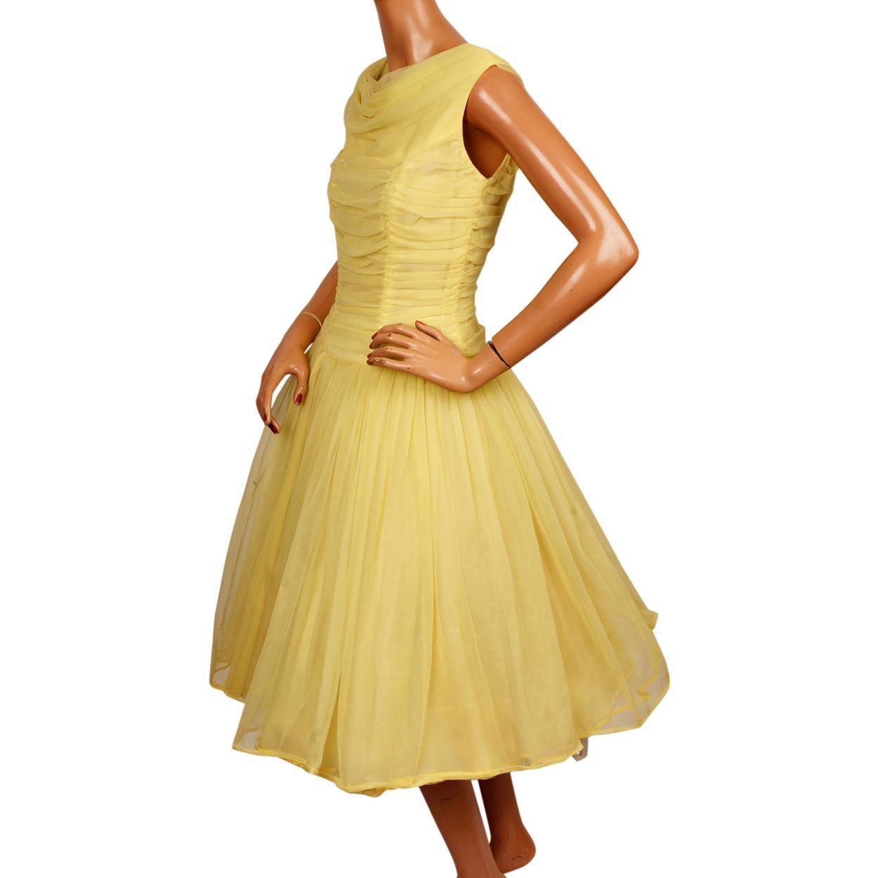 Vintage 50s Yellow Dresses