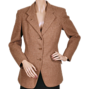 Vintage 1930s Pytchley English Riding Jacket Wool Tweed by Phillips and Piper Ladies Size S M