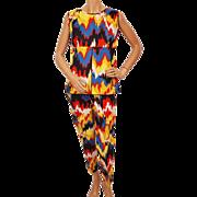 Vintage Barbados Jump Up Pant Suit 2 Piece 60s Ska Carnival Ladies Size M 10