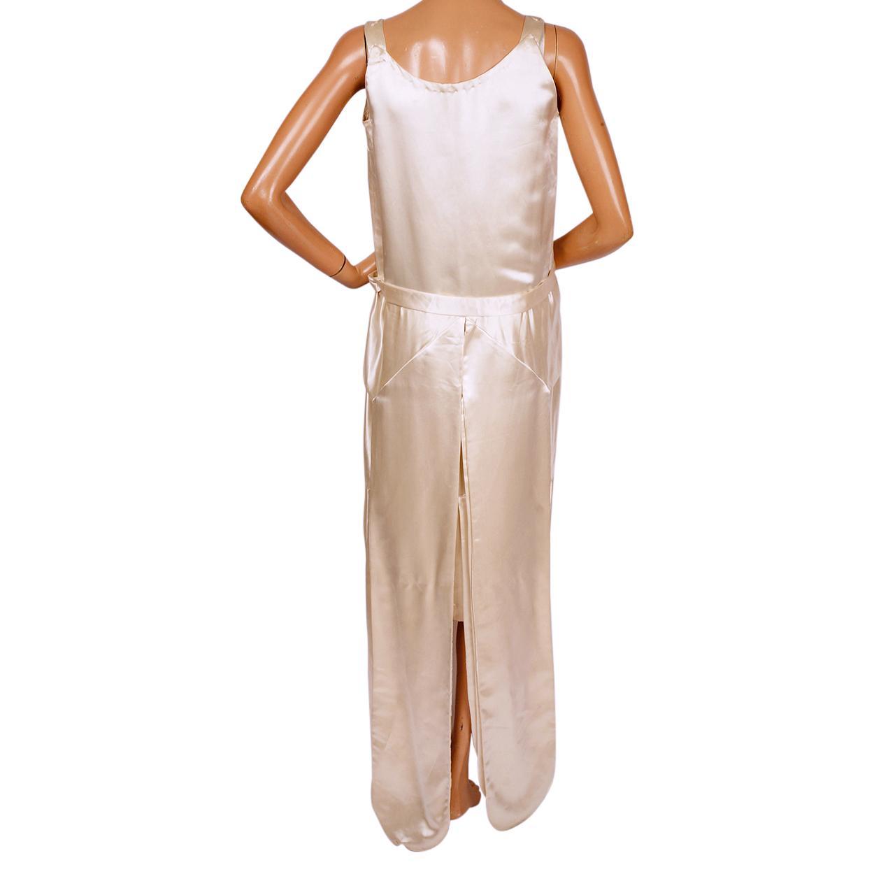 Vintage 1920s Silk Satin Wedding Gown Dress Size Small