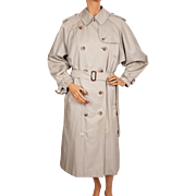 Vintage Burberry Prorsum Classic Trenchcoat Burberry's Rain Coat w Wool Lining Ladies Size L