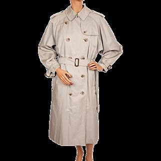 Vintage Burberry Prorsum Classic Trenchcoat Burberry's Rain Coat w Wool Lining Ladies Size L