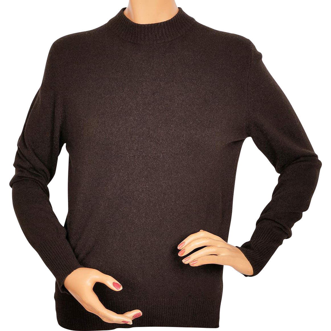 Vintage Ballantyne Cashmere Sweater Brown Pullover Style Made in ...