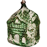 Vintage German CHRISTMAS Figural HOUSE Mercury Glass ORNAMENT