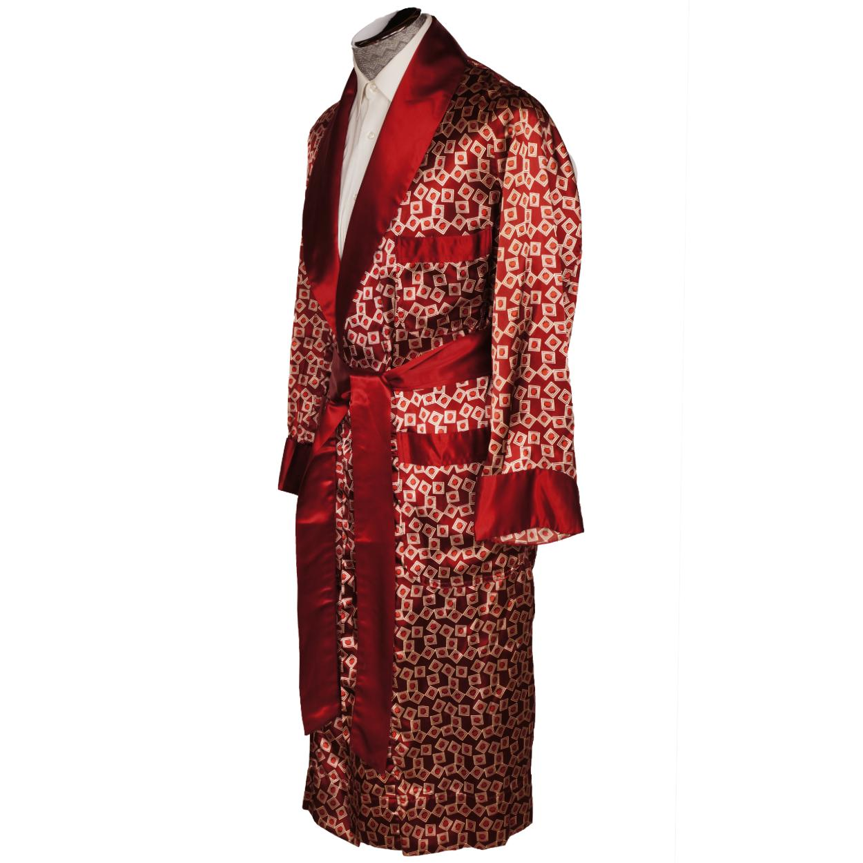 1940s Dressing Gown: Vintage 1940s Mens Dressing Gown Smoking Lounging Robe By