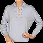 Vintage Scottish Cashmere Sweater Pringle Hand Knit Intarsia Ladies Size M L