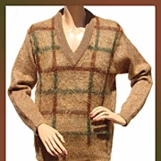 Vintage 1960s Mohair Golf Pullover Sweater Unisex Medium