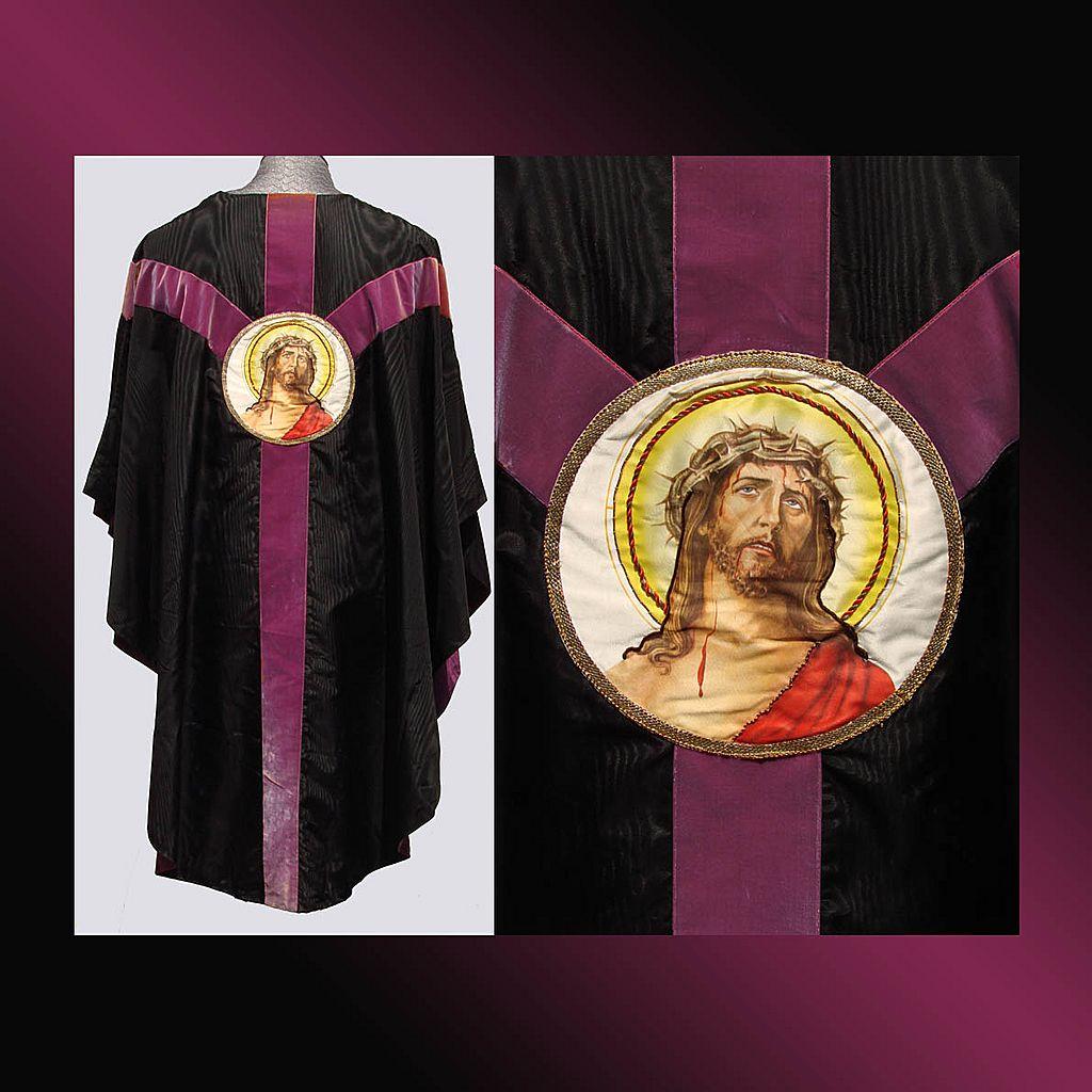 Vintage Catholic Priest Chasuble Vestment Good Friday ...