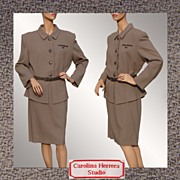 Vintage 1990s Carolina Herrera Wool Suit - 16
