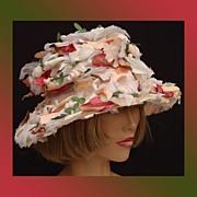 Vintage 1960s Flower Hat // Pastel Colors // Easter Bonnet