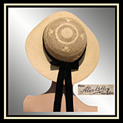Vintage 1930s School Girl Straw Hat // Alice B Roy Montreal Ladies Size S