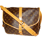 Louis Vuitton Saumur 35 Messenger Monogram Brown Cross Body Bag